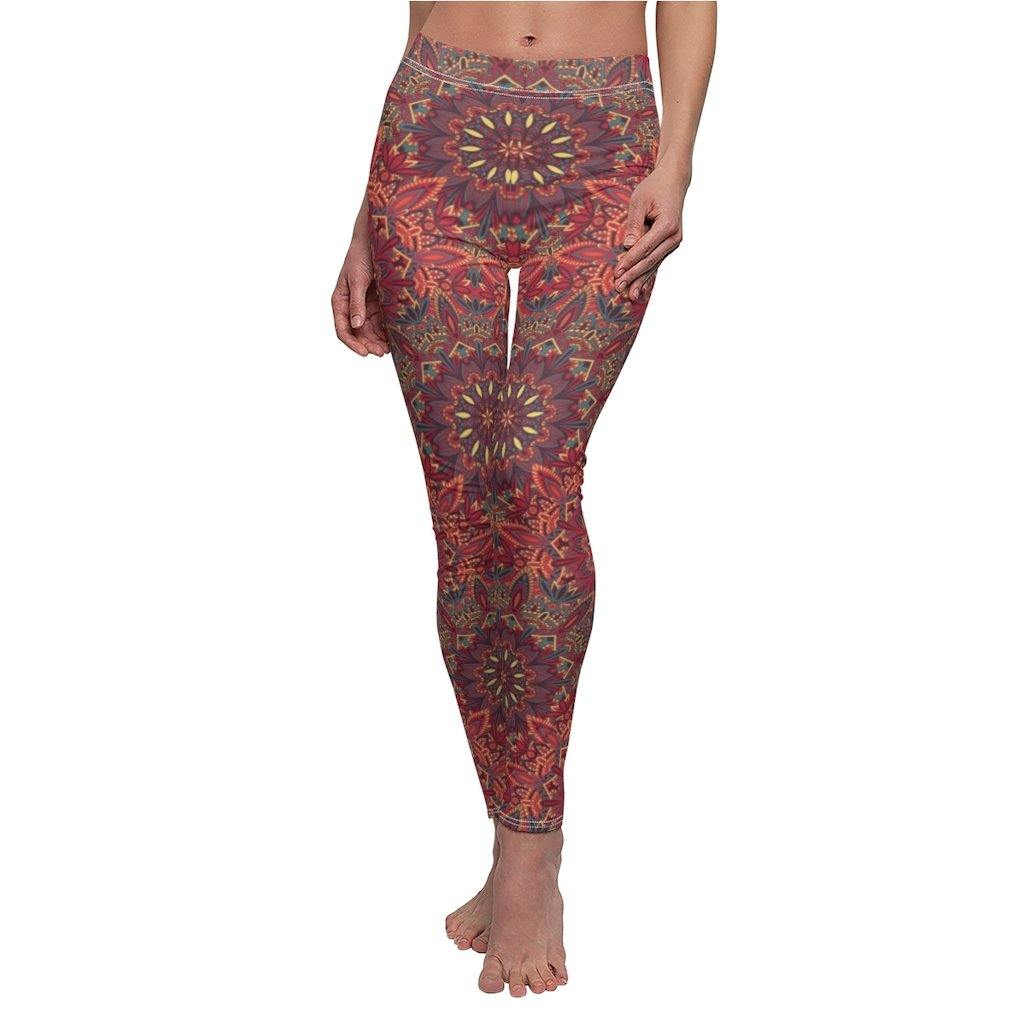 Red tights, cotton leggings, boho pants, festival leggings, hippie pants, printed tights, sexy pants, workout leggings, dance pants, tights