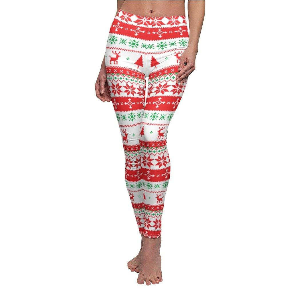 Christmas Fashion 3D Digital Print Stretchy Leggings Multi-Colored