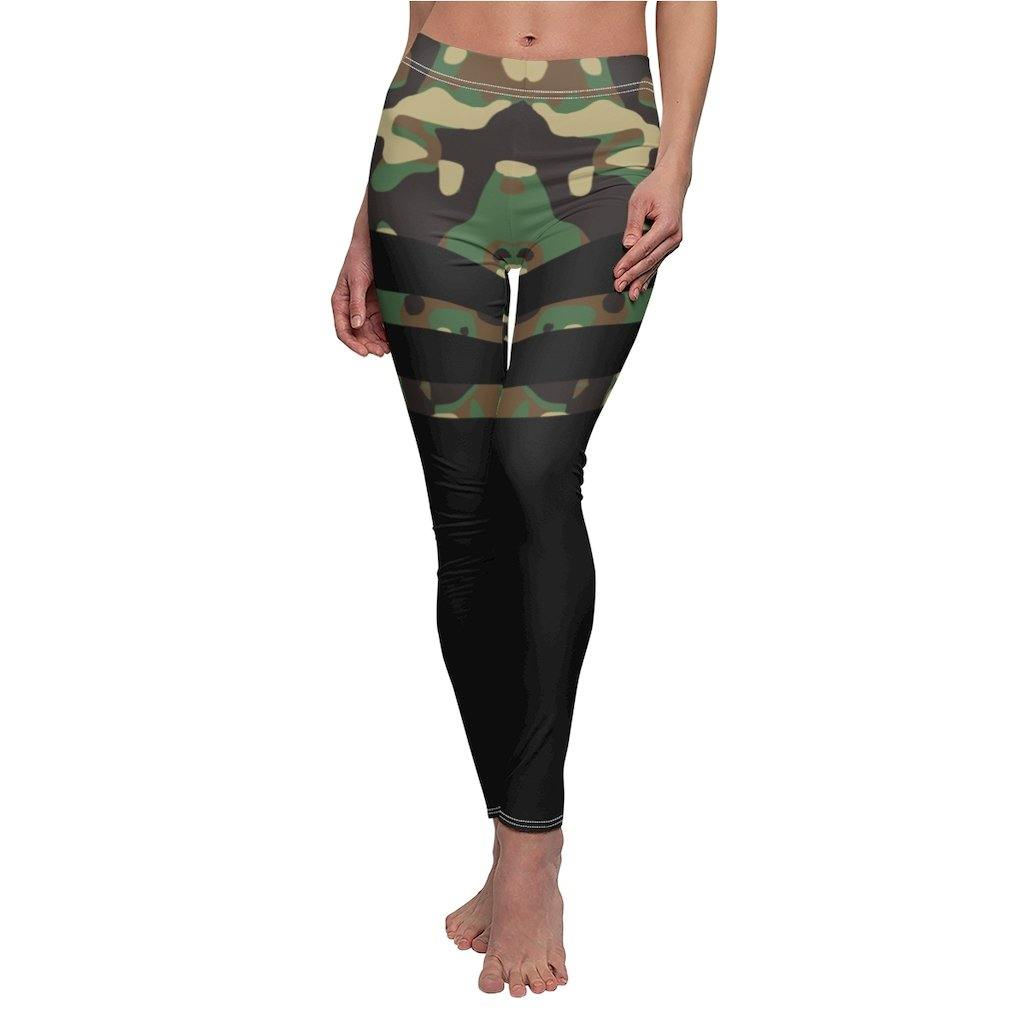 Black & Camo Thigh High Stocking Leggings