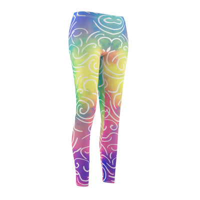 Comfy Yoga Pants - Workout Capris - High Waist Workout Leggings for Women - Lightweight Printed Yoga Legging