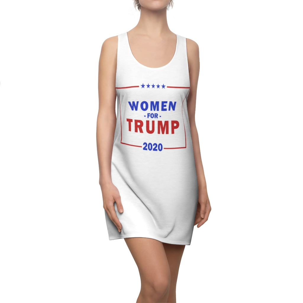 WOMEN FOR TRUMP 2020 Cut & Sew Racerback Dress