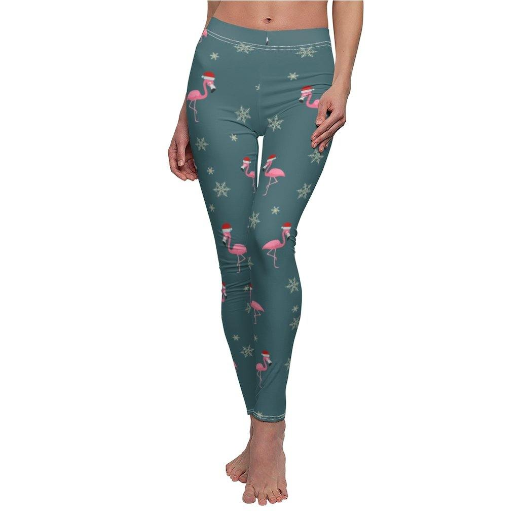 FESTIVE FLAMINGOS LEGGINGS