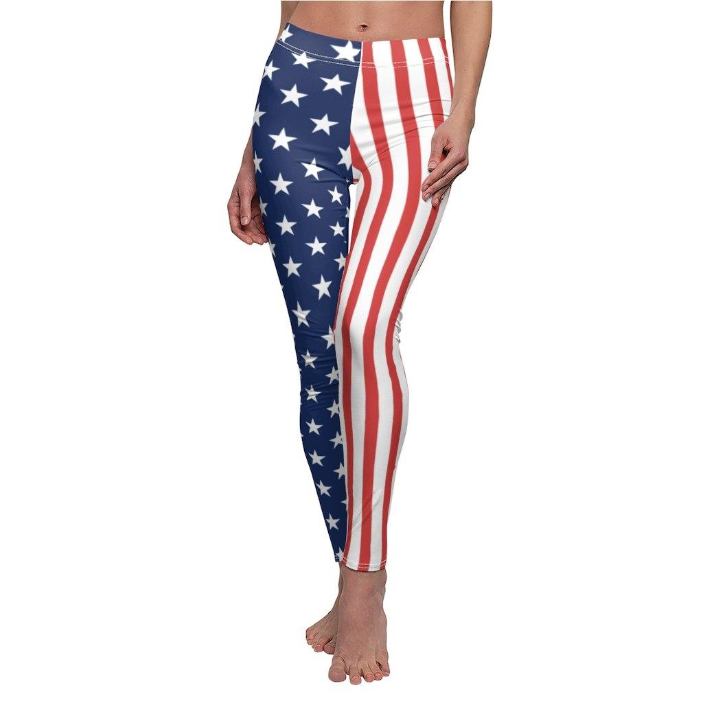 American Flag Patriotic Leggings