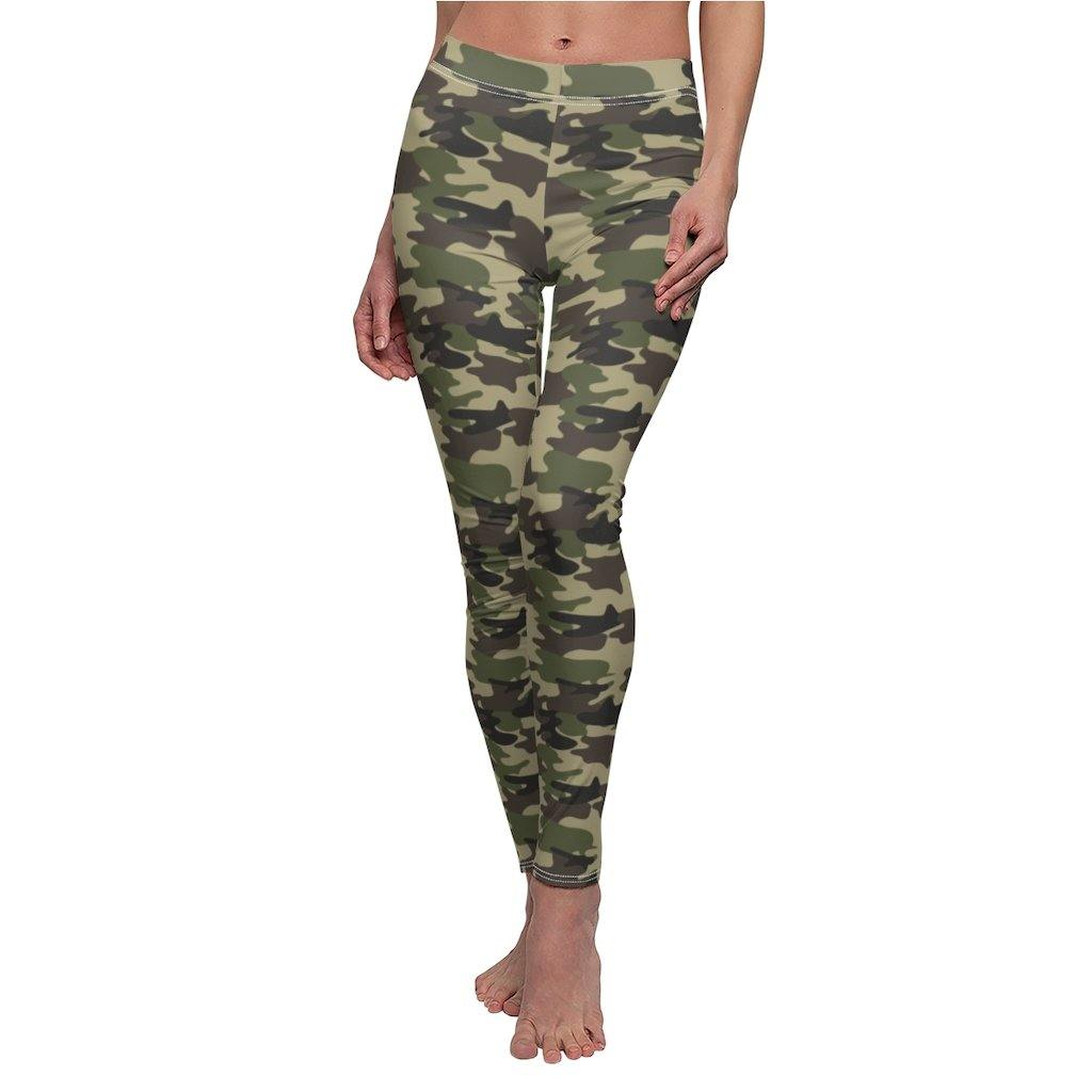 High Waisted Leggings for Women - Soft Opaque Slim Tummy Control Printed Pants for Running Cycling Yoga