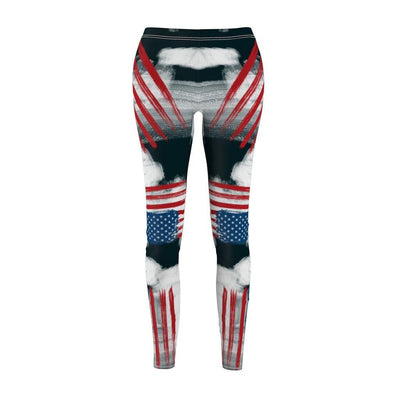 American Flag Printed Leggings- Breathable Soft Silk Workout Tights for Yoga Running Training
