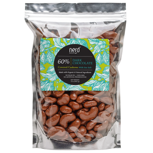 Premium Dark Chocolate Covered Cashews with Sea Salt
