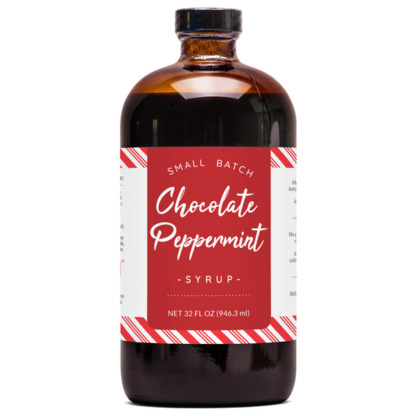 Natural Chocolate Peppermint Syrup - Seasonal