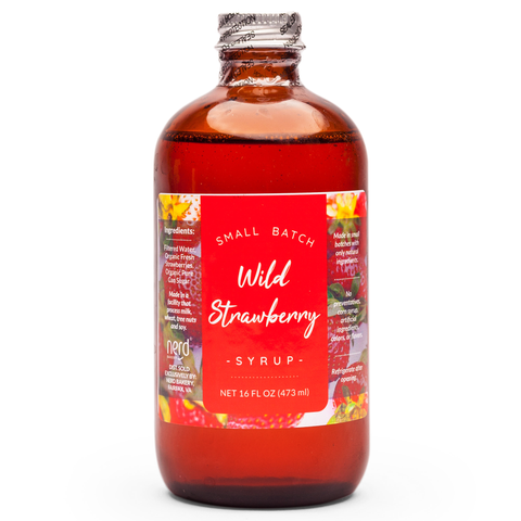 Natural Wild Strawberry Syrup