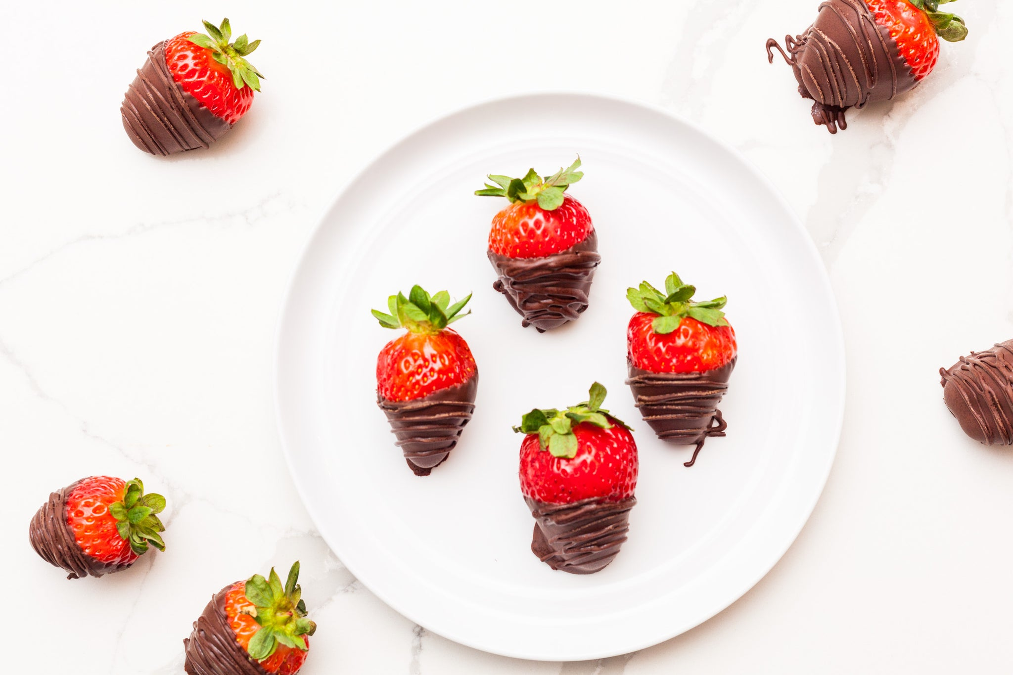 Milk Chocolate Covered Strawberries, One Dozen
