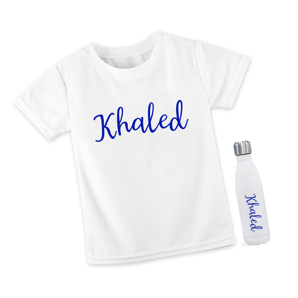 T Shirt and Steel Bottle Set