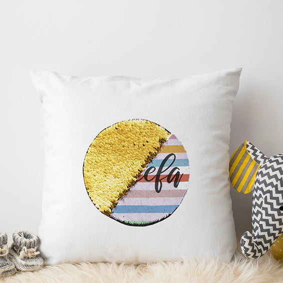 Pillow with Reversible Sequin