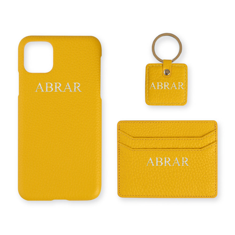 Yellow Leather Set - Gift