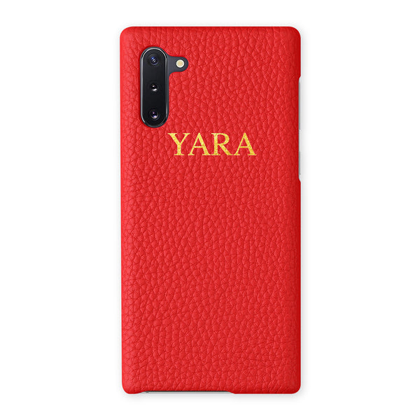 Leather Samsung Case - Add your name