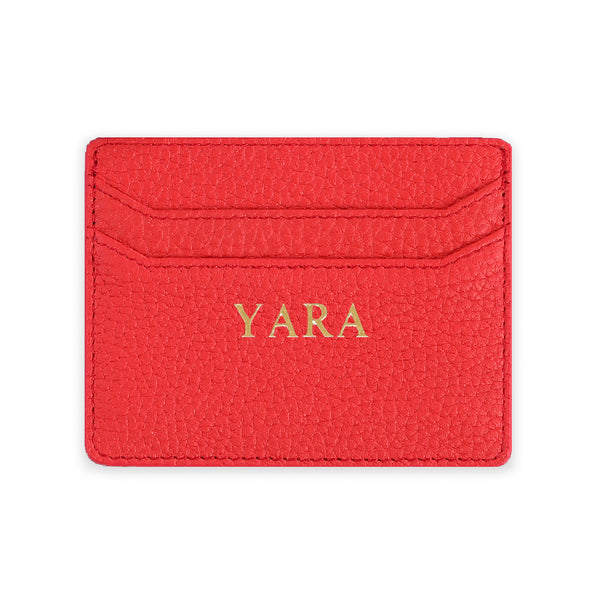 Leather Cardholder - Add your name