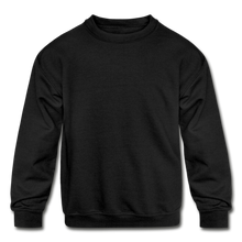Load image into Gallery viewer, Kids' Crewneck Sweatshirt - black