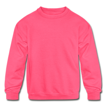 Load image into Gallery viewer, Kids' Crewneck Sweatshirt - neon pink