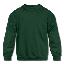 Load image into Gallery viewer, Kids' Crewneck Sweatshirt - forest green