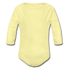 Load image into Gallery viewer, Organic Long Sleeve Baby Bodysuit - washed yellow