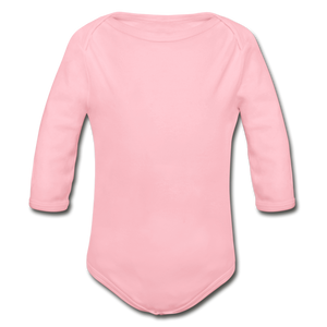Organic Long Sleeve Baby Bodysuit - light pink
