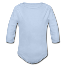 Load image into Gallery viewer, Organic Long Sleeve Baby Bodysuit - sky