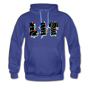 Lit Chic Luxe Hoodie - royalblue
