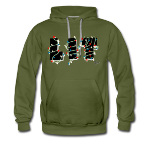Lit Chic Luxe Hoodie - olive green