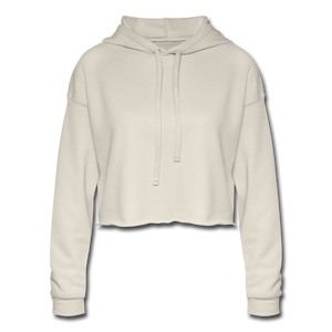 Chic Women's Cropped Hoodie - dust