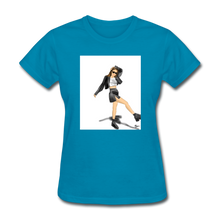 Load image into Gallery viewer, Shadow Crewneck T-shirt - turquoise