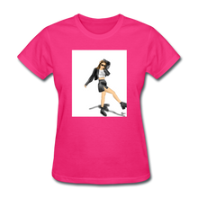 Load image into Gallery viewer, Shadow Crewneck T-shirt - fuchsia