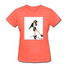 Load image into Gallery viewer, Shadow Crewneck T-shirt - heather coral