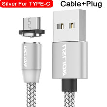 Load image into Gallery viewer, USLION Magnetic USB Cable Fast Charging USB Type C Cable Magnet Charger Data Charge Micro USB Cable Mobile Phone Cable USB Cord