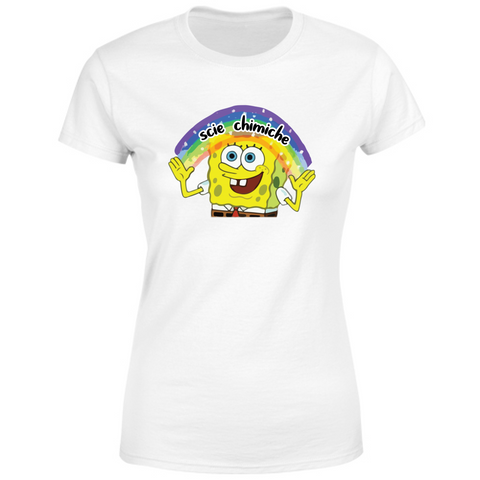T-Shirt Donna SpongeBob Imagination Scie Chimiche