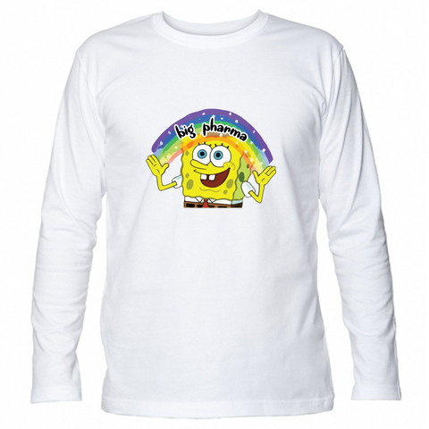 T-Shirt Unisex Manica Lunga SpongeBob Imagination Big Pharma