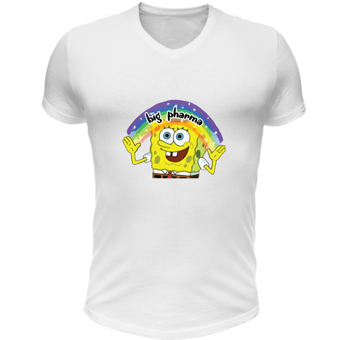 T-Shirt Scollo V SpongeBob Imagination Big Pharma