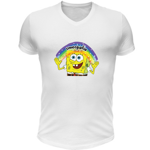 T-Shirt Scollo V SpongeBob Imagination Omeopatia