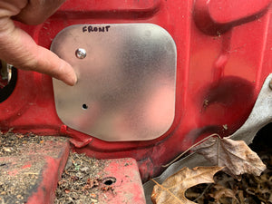 Mazda RX7 FD3S AC & Heater Core Firewall Block Off Plate