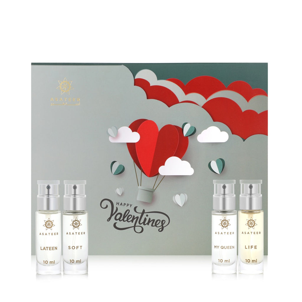 Happy Valentines Perfume Set - 4 pcs