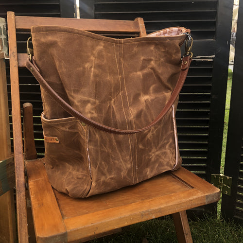 Toffee Brown Compass Large Tote