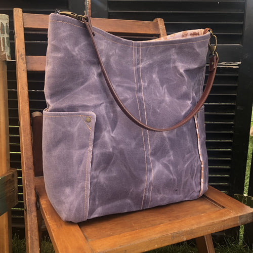 French Lavender Compass Large Tote