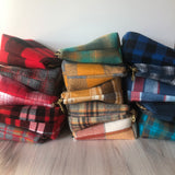 Flannel Make up Zips