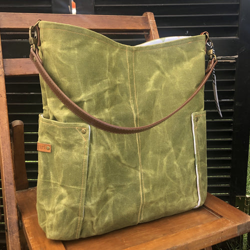 Olive Green Compass Large Tote