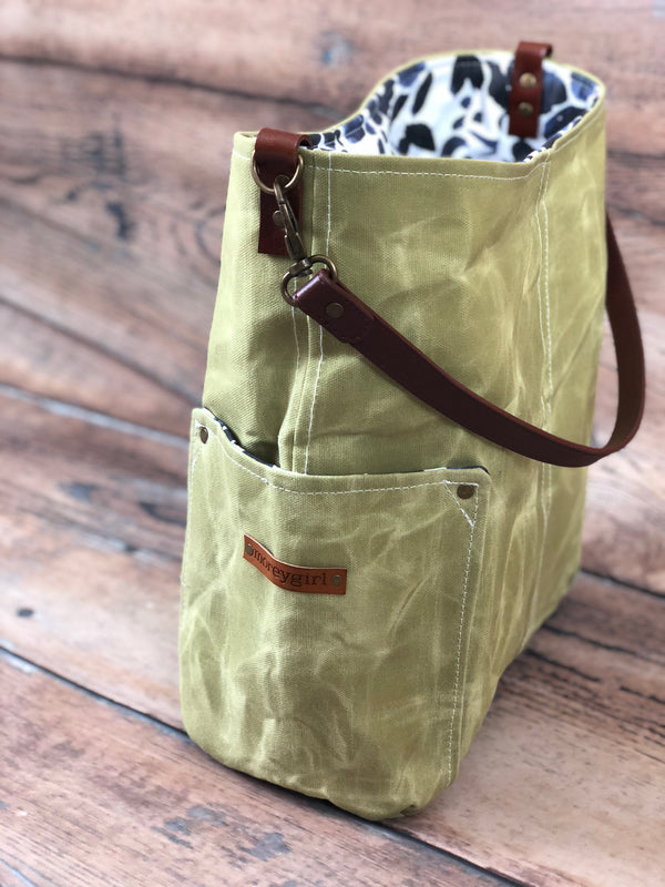 {Design Your Own} Lime compass tote