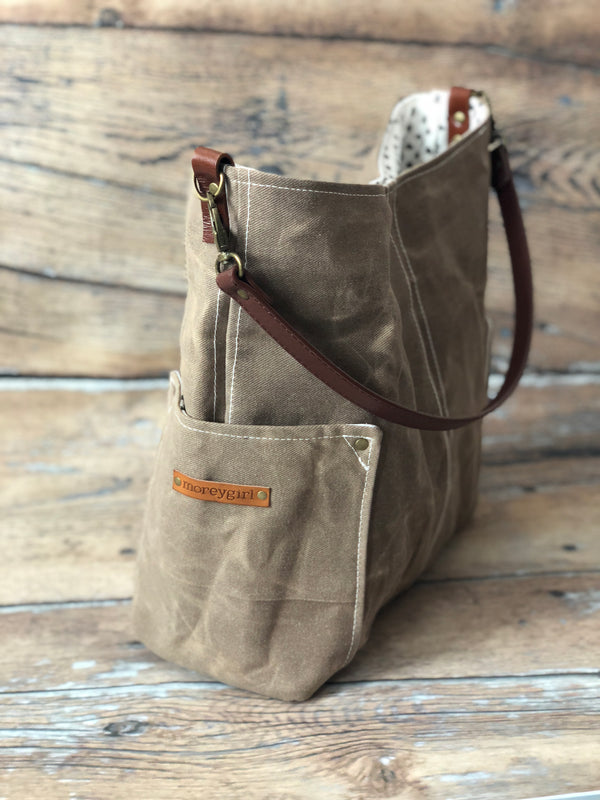 {Design Your Own}  Cowboy brown compass tote
