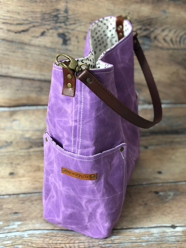 {Design Your Own} Purple compass tote