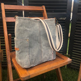 Speckled Gray Compass Crossbody