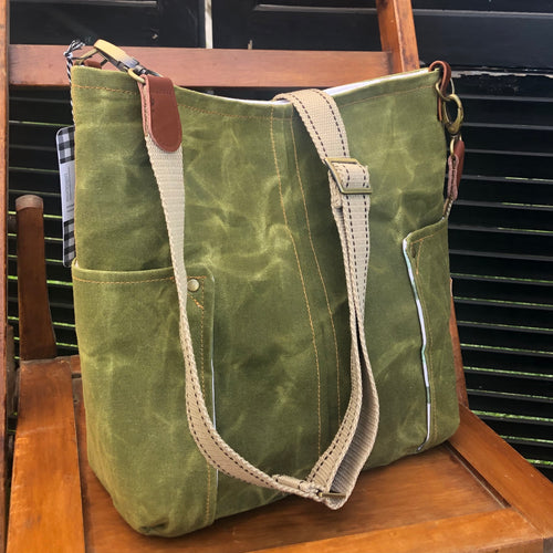 Olive Green Compass Crossbody