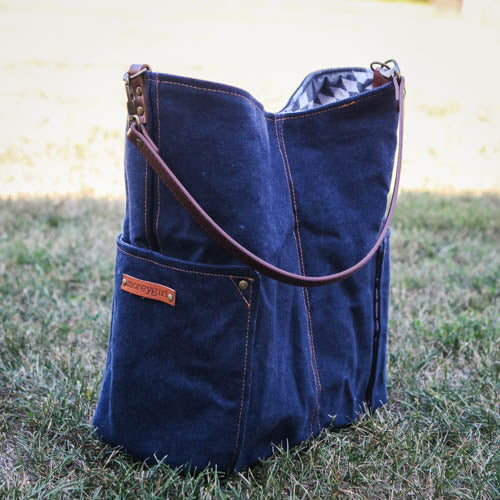 Compass Tote - Indigo Denim
