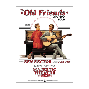 The Old Friends Acoustic Limited Tour Lithograph (Waco or Dallas)