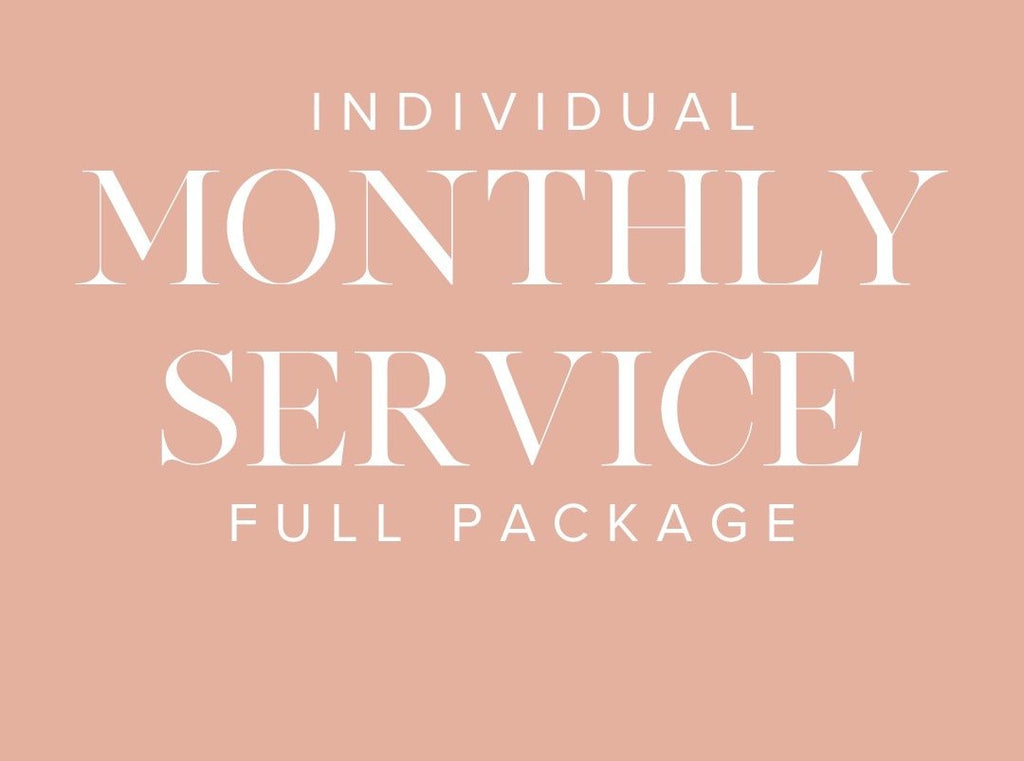Full Package: Individual Monthly Service $89.99 one time fee & $89.99 a month