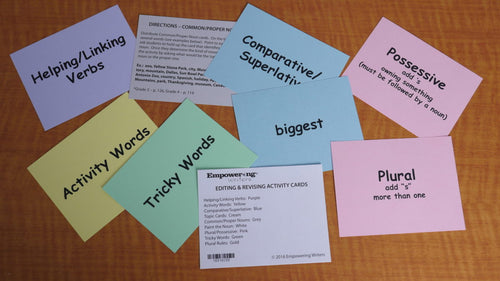 Editing & Revising Activity Cards